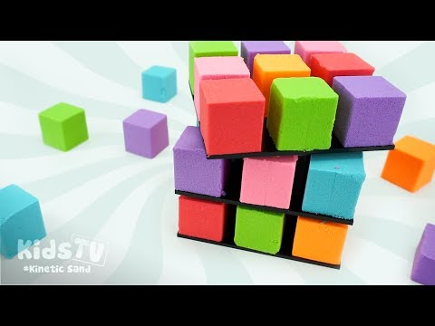 DIY How to Make Kinetic Sand Cake Giant Rainbow Cube - Learn Colors Kinetic Sand for Kids