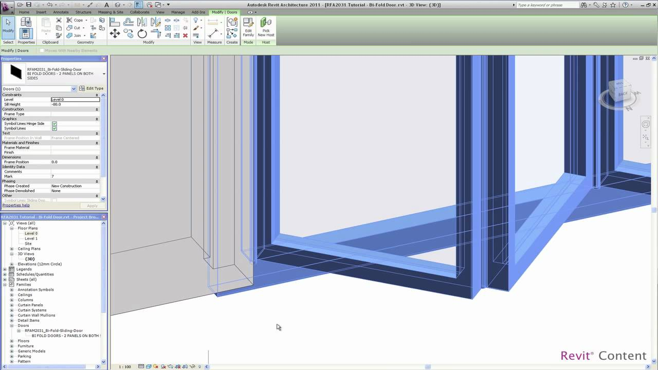 Revit Content All In One Revit Bi Fold Door Family Youtube