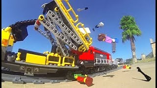 CRASH with Lego Service Train at Infinity Pool