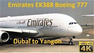 Emirates EK388 Dubai To Yangon, taking off from Dubai Airport in July 2018