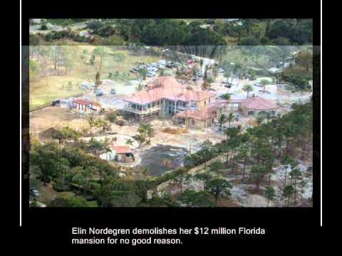 Elin Nordegren demolishes mansion