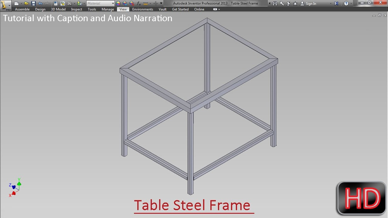 Fabrication of frame for Table by Frame Generator ...