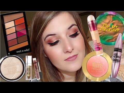 FULL FACE OF DRUGSTORE MAKEUP | AFFORDABLE + EASY MAKEUP TUTORIAL | CHEAP DRUG STORE MAKEUP 2019