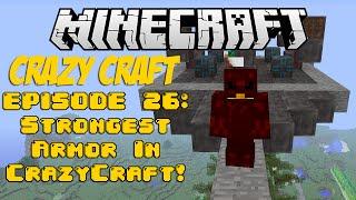 Minecraft Crazy Craft Episode 26: Strongest Armor in Crazy Craft!