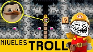 DAME PACIENCIA ¡¡MIYAMOTO!! - NIVELES TROLL #5 | Super Mario Maker - ZetaSSJ