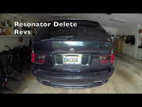 BMW X5 4.8is Stock Exhaust vs. Resonator Delete w/ Straight Pipes
