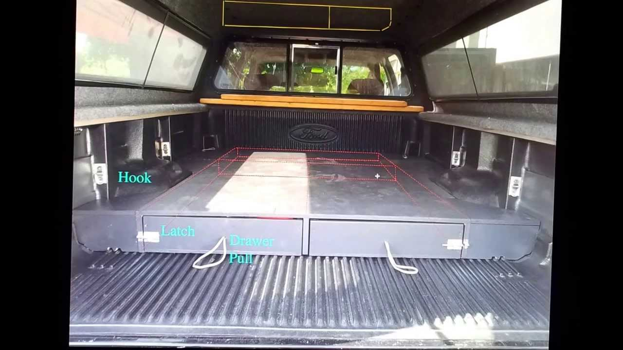 2008 f350 Home made camper Completed truck bed box - YouTube