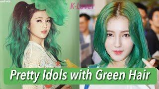 12 Girl K-Pop Idols That Rocked Green Hair