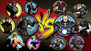 Shadow Fight 2 Lynx and Bodyguards vs Titan and Bodyguards