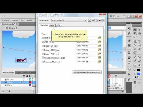 Curso de Flash CS5. 15. Publicar una película SWF.