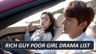 MY BEST KOREAN DRAMA SERIES - GENRE : RICH GUY POOR GIRL / RICH GIRL POOR BOY ( TOP 20 LIST )