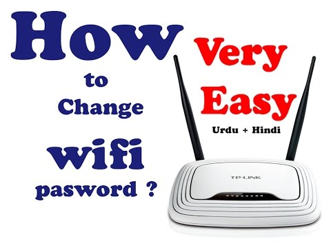 How to change wifi password TP-Link Routers in[Urdu/Hindi] by Everythinglearn 2016