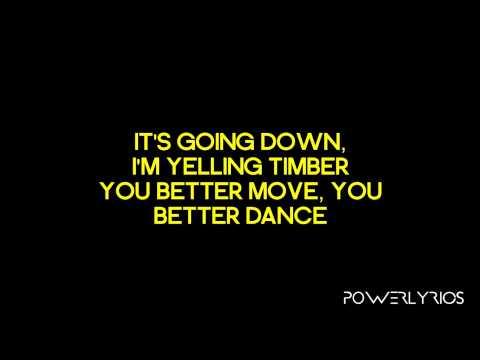 Pitbull Feat. Ke$ha - Timber (Lyrics Video)