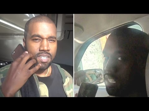 Watch Kanye West Ditch Uber And Get A Ride From X17 Photographers!