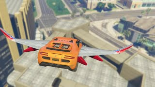 FLYING CARS OVER BUILDINGS (GTA 5 Funny Moments)