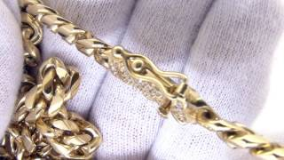 Hip Hop Jewelry | Gold Steel Cuban Chain | CZ Diamond Lock Clasp