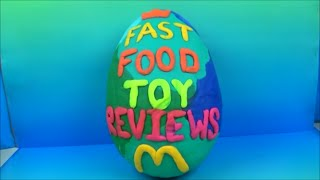 GIANT McDONALDS PLAY-DOH MYSTERY SURPRISE EGG by FAST FOOD TOY REVIEWS