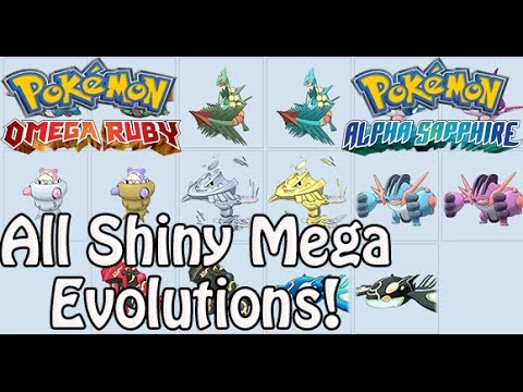 pokemon omega ruby and alpha sapphire all shiny mega