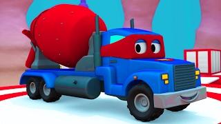 Siêu xe Carl và xe trộn bê tông ở thành phố xe | Phim hoạt hình về xe dành cho thiếu nhi