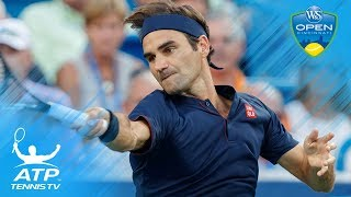 Federer Cruises; Kyrgios Makes Match Point Magic | Cincinnati 2018 Highlights Day 3