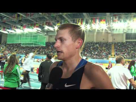 Michael Rutt after 800 semi final at World Indoors 2012