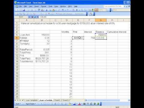 Auto Loan Amortization Calculator Excel