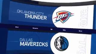 Oklahoma City Thunder vs Dallas Mavericks Game Recap | 12/30/18| NBA