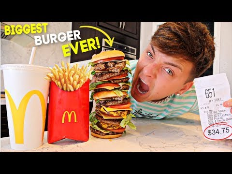 Worlds Most EXPENSIVE McDonald's Burger EVER! (IMPOSSIBLE FOOD CHALLENGE)