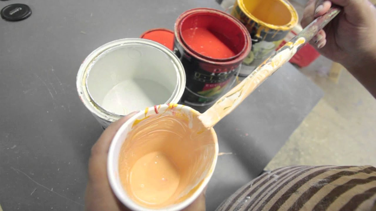 how to make light red paint