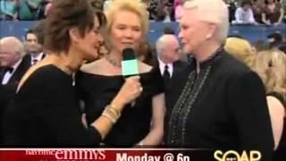 SUSAN FLANNERY FUNNY EMMY INTERVIEWS Erika Slezak OLTL Viki B&B Bold Beautiful Stephanie 1-23-14