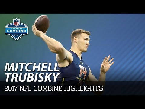 Mitchell Trubisky North Carolina Qb 2017 Nfl Combine Highlights
