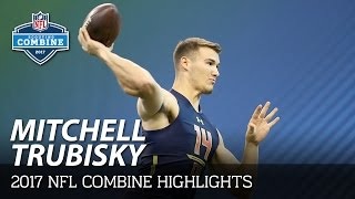 Mitchell Trubisky (North Carolina, QB) | 2017 NFL Combine Highlights