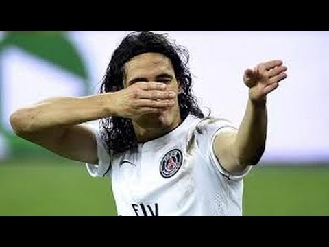 Edinson Cavani Sniper Celebration. (Red Card).