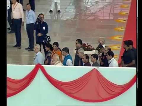 Prime Minister Narendra Modi at the Inauguration of Integrated Terminal Building of Vadodara Airport.