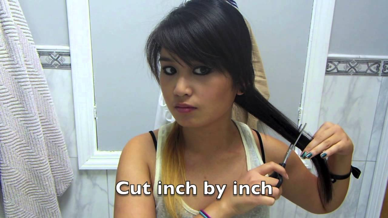 Diy How To Thin Layer Your Hair Yourself Youtube