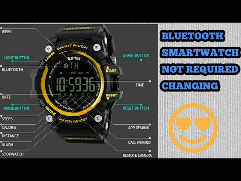 SKMEI 1227 Bluetooth smartwatch unboxing & review