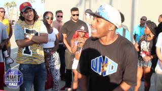 AHAT Venice Beach Rap Battle | Yung Pop vs 2face | NorCal vs SoCal