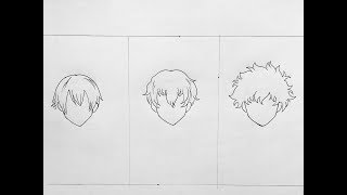 How to draw male anime hair (part2)