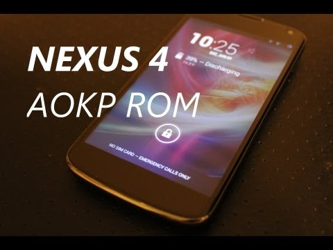 AOKP Rom for the Nexus 4 (Milestone 1) 4.2.2