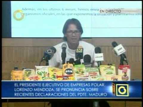 Lorenzo Mendoza señala que han producido 10% más que en 2012 (II PARTE)