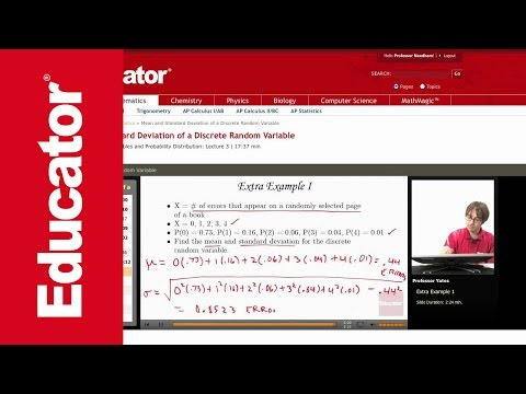 Statistics: Mean and Standard Deviation of a Discrete Random Variable