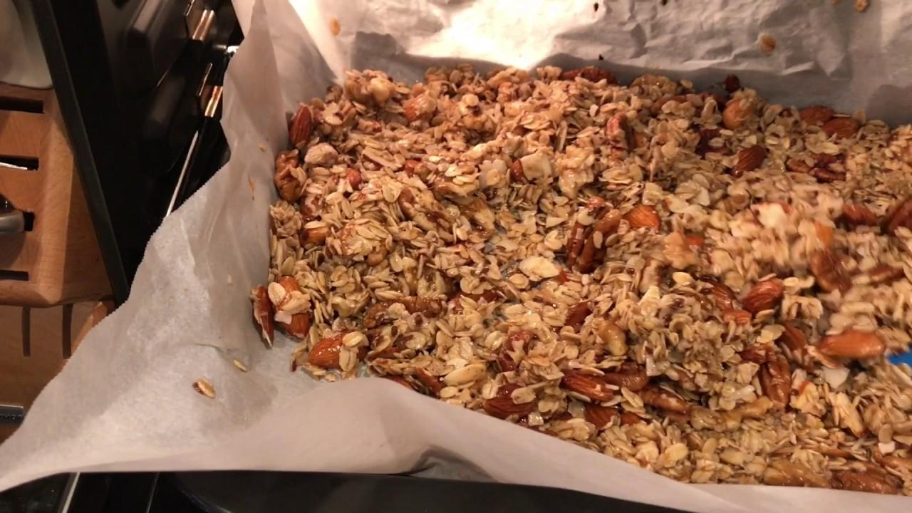 גרנולה בהכנה ביתית – דגני בוקר cereal – איך מבשלים את זה בריא?