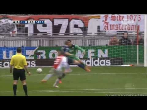 Ajax vs AZ Alkmaar 4-0 Eredivisie 23 02 2014 All goals