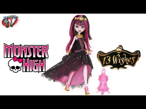 Monster High 13 Wishes Haunt The Casbah Draculaura Doll Toy Review. Mattel