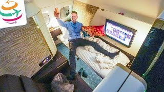 WOW! Das Etihad First Class Apartment A380 LHR-AUH | GlobalTraveler.TV