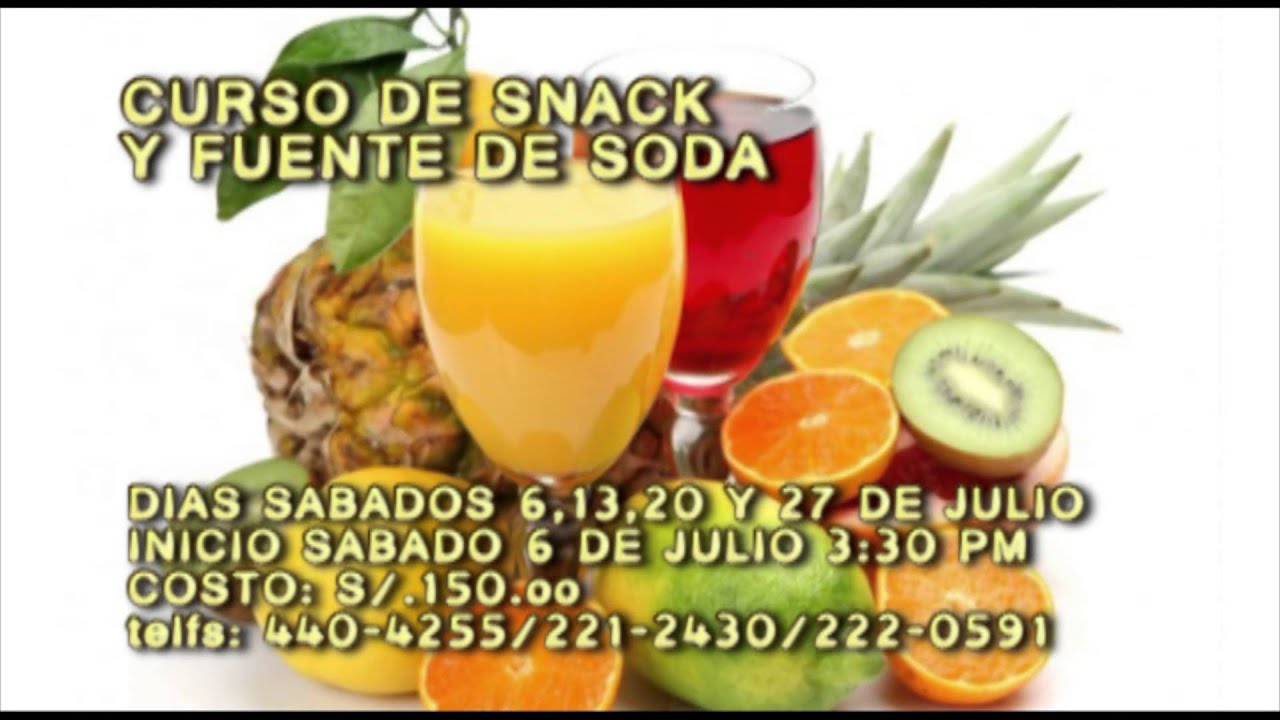 Snack y fuente de soda youtube for Sillas para fuente de soda