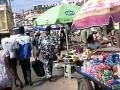 Walk Along Market Street in Cape Coast Ghana