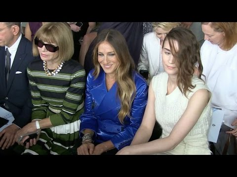 Rooney Mara, Sarah Jessica Parker and Anna Wintour at Calvin Klein Fashion Show in New York