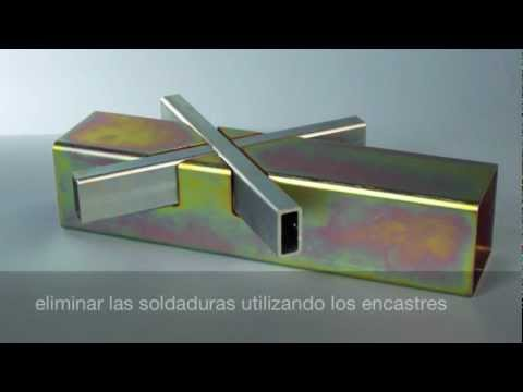 Tubos en acero   estructura innovadora con encastres