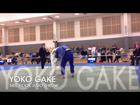 YOKO GAKE Judo Side Hook Throw. Is this FAIR? his jacket came off, then, got thrown. Image 1